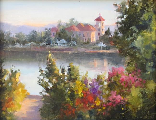 Cheryl St. John Painting Summer Sunrise Oil on Panel