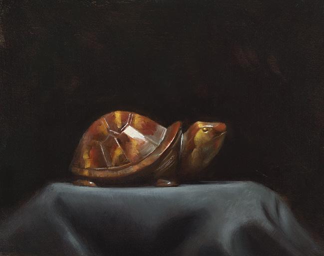 Marc Rubin Painting Rock Slow Oil on Panel