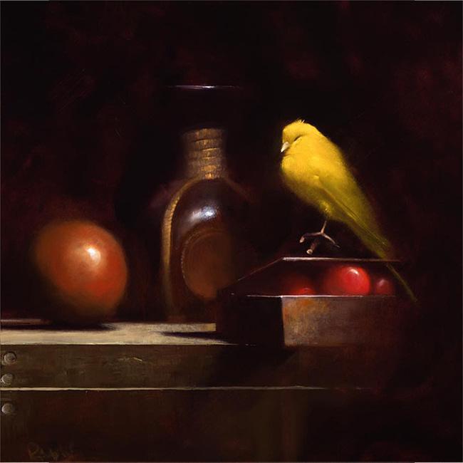 Marc Rubin Painting New Light Oil on Panel