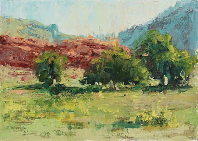 Susie Hyer  Summer in Red Rock Country Oil on Panel