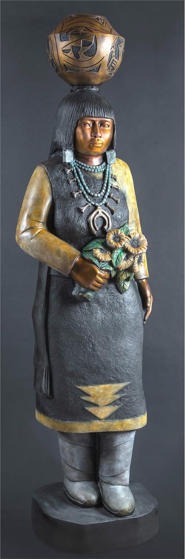 Doug Hyde Sculpture Sunflowers Bronze